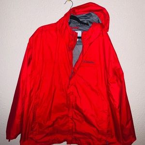 Columbia jacket for men in color red mesh lining